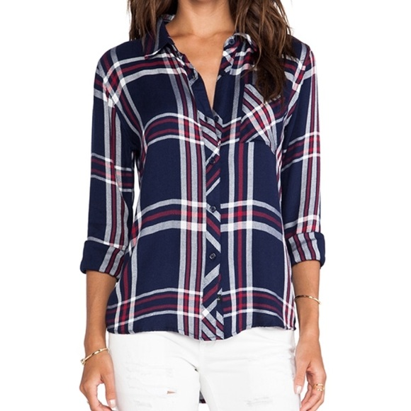 f6af04eb1 Rails Tops | Hunter Plaid Shirt In Navy Red And White | Poshmark